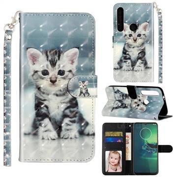 Kitten Cat 3D Leather Phone Holster Wallet Case for Motorola Moto G8 Play