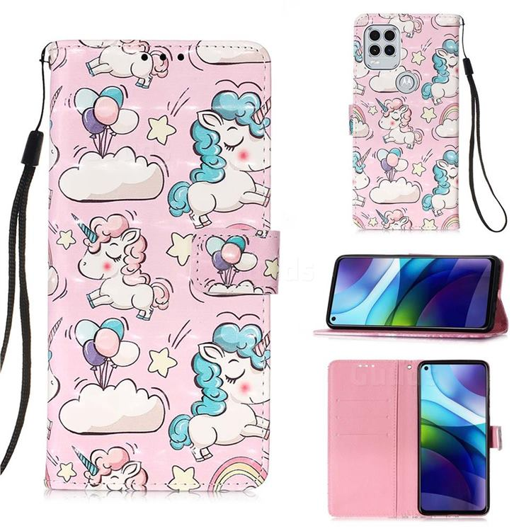Angel Pony 3D Painted Leather Wallet Case for Motorola Moto G Stylus 2021 5G
