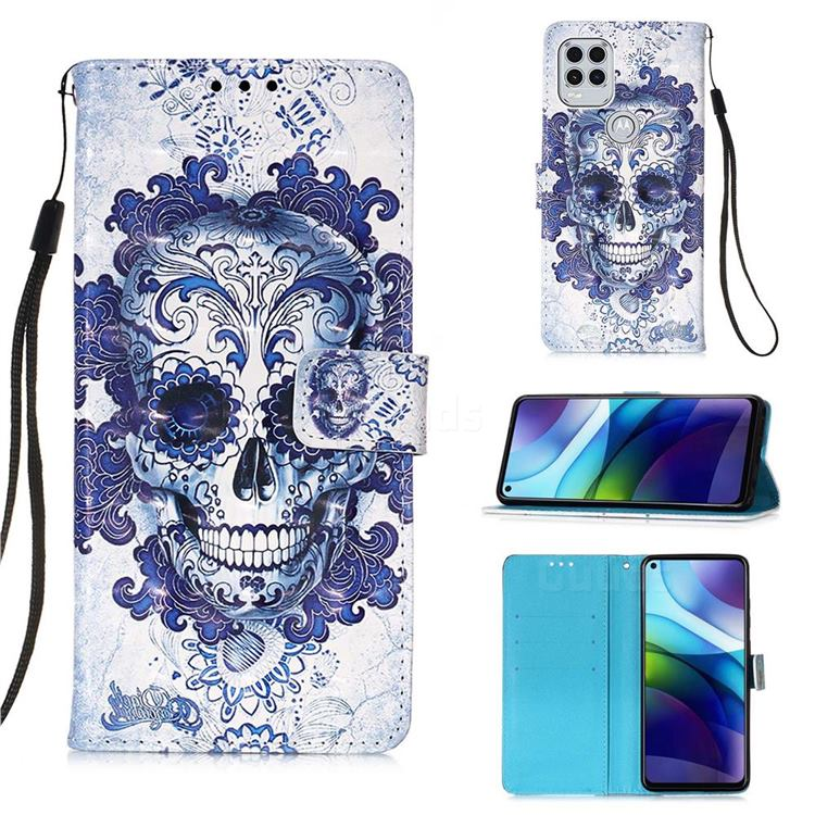 Cloud Kito 3D Painted Leather Wallet Case for Motorola Moto G Stylus 2021 5G