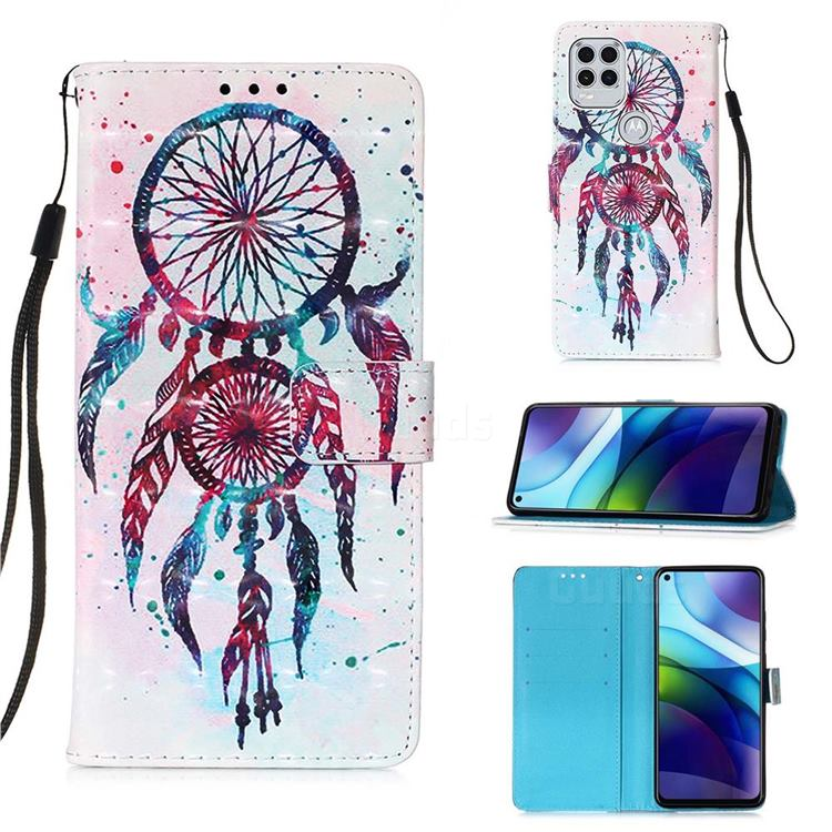 ColorDrops Wind Chimes 3D Painted Leather Wallet Case for Motorola Moto G Stylus 2021 5G