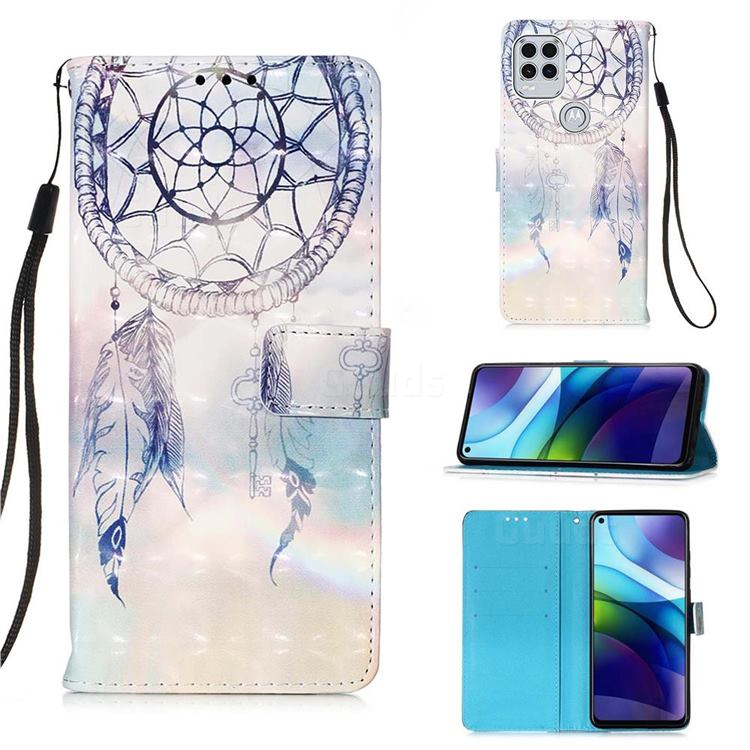 Fantasy Campanula 3D Painted Leather Wallet Case for Motorola Moto G Stylus 2021 5G