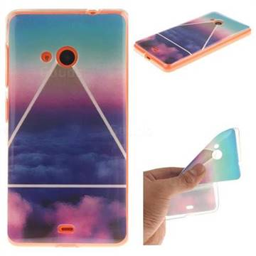 info for befe9 cafcd Triangle Clouds IMD Soft TPU Back Cover for Microsoft 535 Nokia Lumia N535