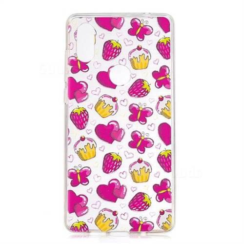 Strawberry Cake Super Clear Soft TPU Back Cover for Xiaomi Mi Mix 2S
