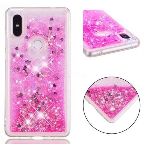 Dynamic Liquid Glitter Quicksand Sequins TPU Phone Case for Xiaomi Mi Mix 2S - Rose