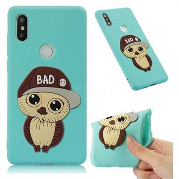 Bad Boy Owl Soft 3D Silicone Case for Xiaomi Mi Mix 2S - Sky Blue