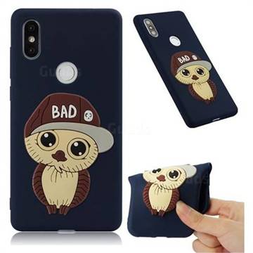 Bad Boy Owl Soft 3D Silicone Case for Xiaomi Mi Mix 2S - Navy
