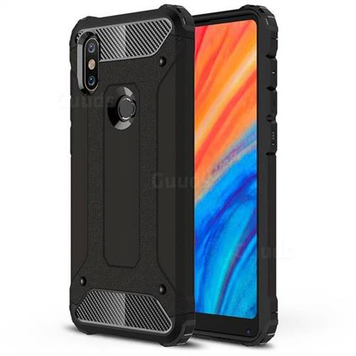 King Kong Armor Premium Shockproof Dual Layer Rugged Hard Cover for Xiaomi Mi Mix 2S - Black Gold