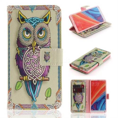 Weave Owl PU Leather Wallet Case for Xiaomi Mi Mix 2S