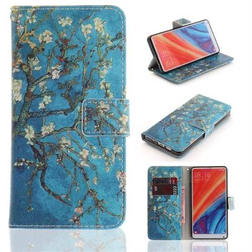Apricot Tree PU Leather Wallet Case for Xiaomi Mi Mix 2S