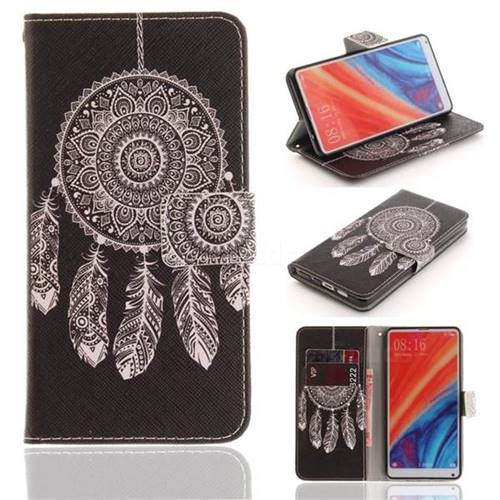 Black Wind Chimes PU Leather Wallet Case for Xiaomi Mi Mix 2S
