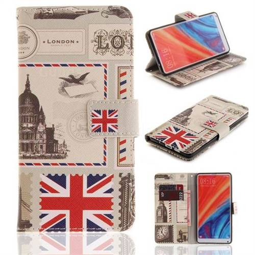 London Envelope PU Leather Wallet Case for Xiaomi Mi Mix 2S