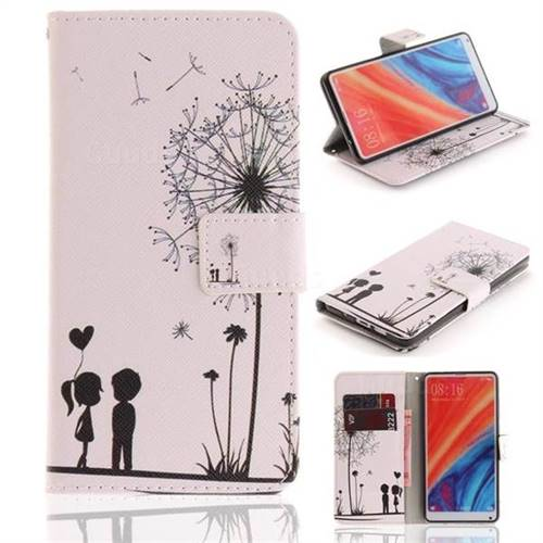 Couple Dandelion PU Leather Wallet Case for Xiaomi Mi Mix 2S