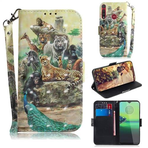 Beast Zoo 3D Painted Leather Wallet Phone Case for Motorola One Macro