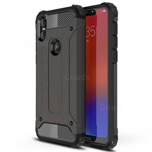 King Kong Armor Premium Shockproof Dual Layer Rugged Hard Cover for Motorola One (P30 Play) - Bronze