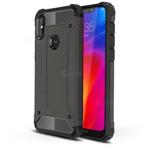 King Kong Armor Premium Shockproof Dual Layer Rugged Hard Cover for Motorola One Power (P30 Note) - Bronze