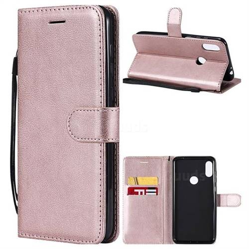 timeless design f9d28 98218 Retro Greek Classic Smooth PU Leather Wallet Phone Case for Motorola One  Power (P30 Note) - Rose Gold - Motorola One Power (P30 Note) Cases - Guuds