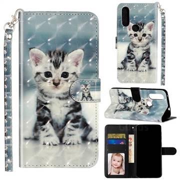 Kitten Cat 3D Leather Phone Holster Wallet Case for Motorola Moto P40 Power