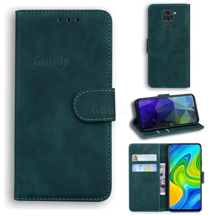 Retro Classic Skin Feel Leather Wallet Phone Case for Xiaomi Redmi 10X 4G - Green