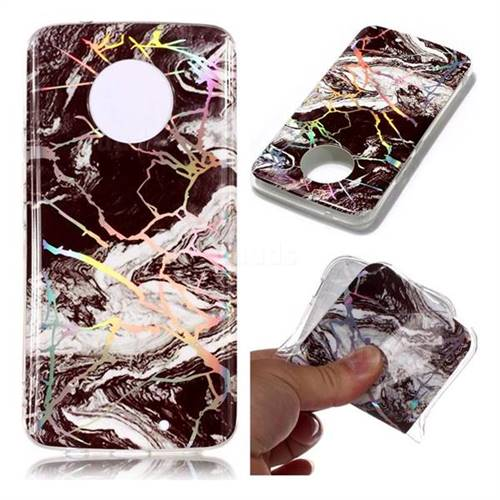 White Black Marble Pattern Bright Color Laser Soft TPU Case for Motorola Moto X4 (4th gen.)
