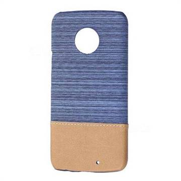 Canvas Cloth Coated Plastic Back Cover for Motorola Moto X4 (4th gen.) - Light Blue