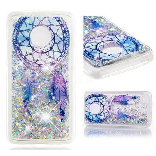 Dynamic Liquid Glitter Quicksand Soft TPU Case for Motorola Moto E4 (USA) - Fantasy Wind Chimes