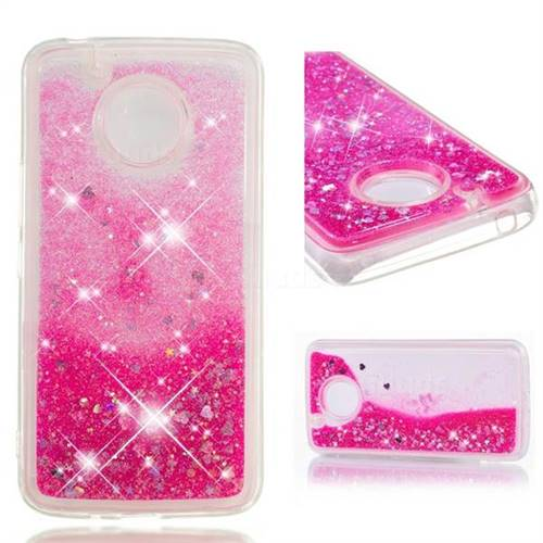 Dynamic Liquid Glitter Quicksand Sequins TPU Phone Case for Motorola Moto E4 Plus (USA) - Rose