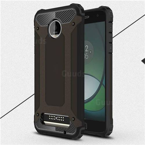King Kong Armor Premium Shockproof Dual Layer Rugged Hard Cover for Motorola Moto Z Play - Black Gold