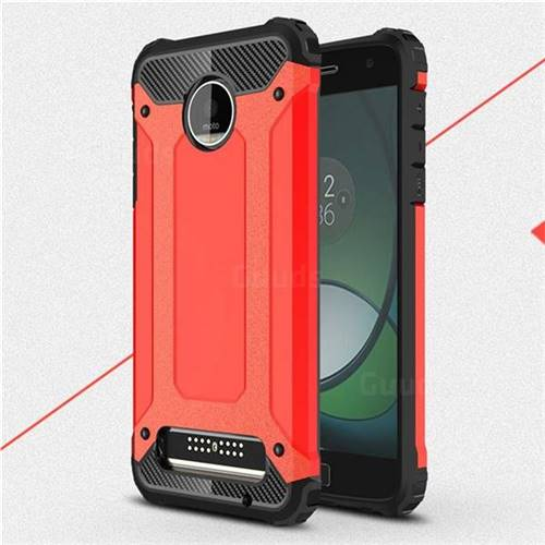 King Kong Armor Premium Shockproof Dual Layer Rugged Hard Cover for Motorola Moto Z Play - Big Red
