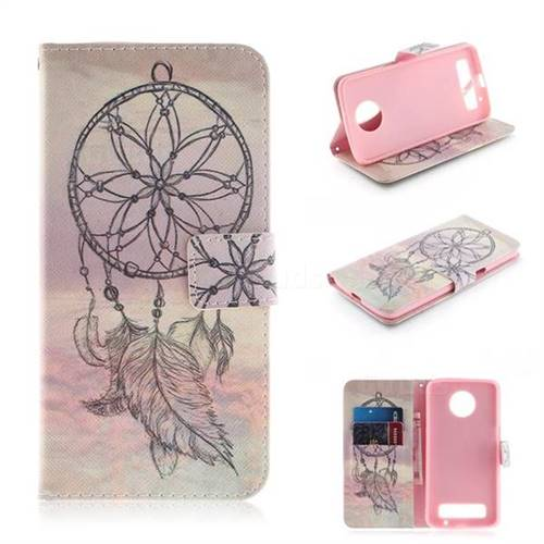 new style 2915e 77665 Dream Catcher PU Leather Wallet Case for Motorola Moto Z3 Play