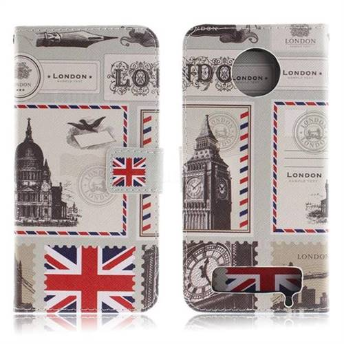 sale retailer d92ea b55e7 London Envelope PU Leather Wallet Case for Motorola Moto Z3 Play