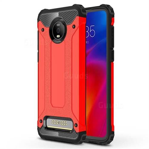 King Kong Armor Premium Shockproof Dual Layer Rugged Hard Cover for Motorola Moto Z4 Play - Big Red
