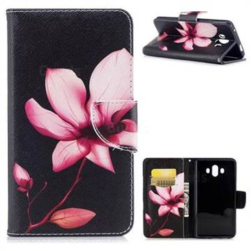Lotus Flower Leather Wallet Case for Huawei Mate 10 (5.9 inch, front Fingerprint)