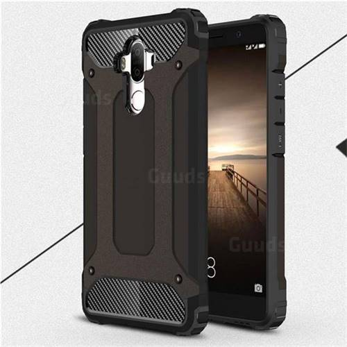 King Kong Armor Premium Shockproof Dual Layer Rugged Hard Cover for Huawei Mate9 Mate 9 - Black Gold