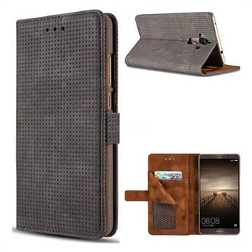 Luxury Vintage Mesh Monternet Leather Wallet Case for Huawei Mate9 Mate 9 - Black