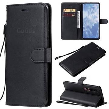 Retro Greek Classic Smooth PU Leather Wallet Phone Case for Xiaomi Mi 10 / Mi 10 Pro 5G - Black