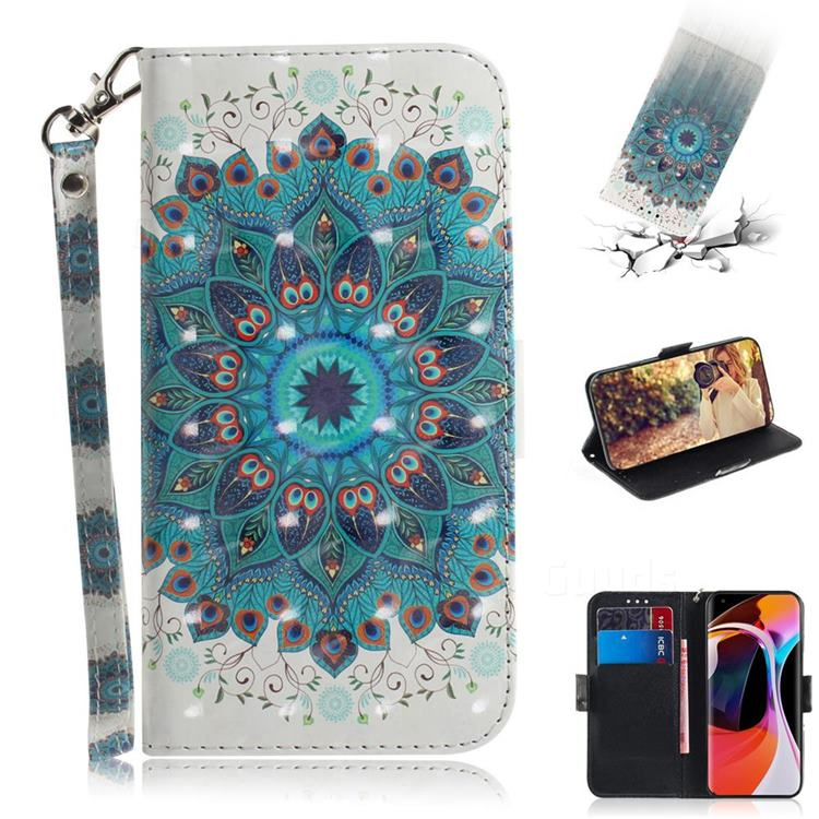Peacock Mandala 3D Painted Leather Wallet Phone Case for Xiaomi Mi 10 / Mi 10 Pro 5G