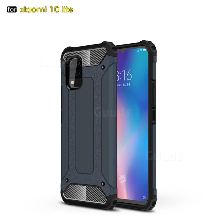 King Kong Armor Premium Shockproof Dual Layer Rugged Hard Cover for Xiaomi Mi 10 Lite - Navy