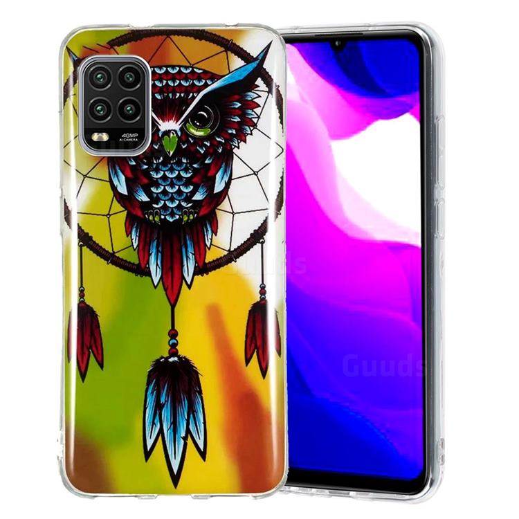 Owl Wind Chimes Noctilucent Soft TPU Back Cover for Xiaomi Mi 10 Lite