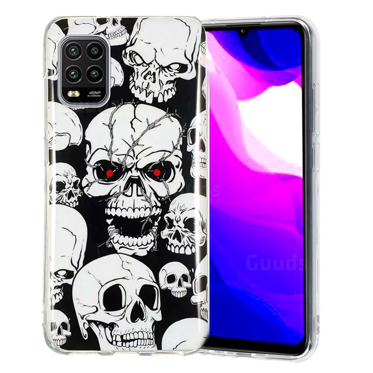 Red-eye Ghost Skull Noctilucent Soft TPU Back Cover for Xiaomi Mi 10 Lite