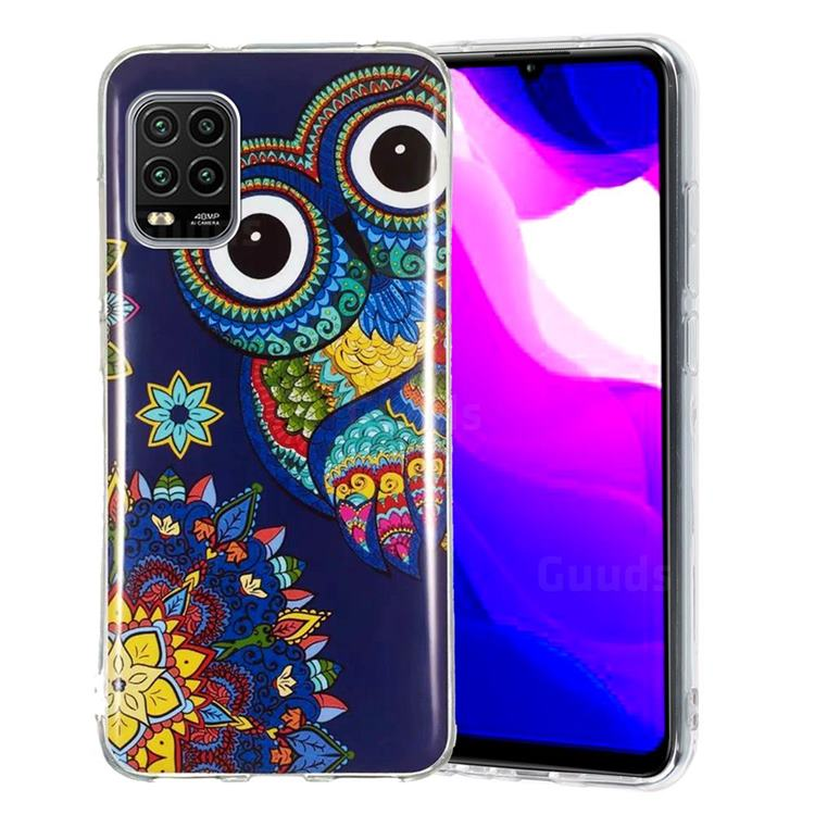 Tribe Owl Noctilucent Soft TPU Back Cover for Xiaomi Mi 10 Lite
