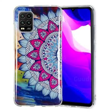 Colorful Sun Flower Noctilucent Soft TPU Back Cover for Xiaomi Mi 10 Lite