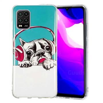 Headphone Puppy Noctilucent Soft TPU Back Cover for Xiaomi Mi 10 Lite