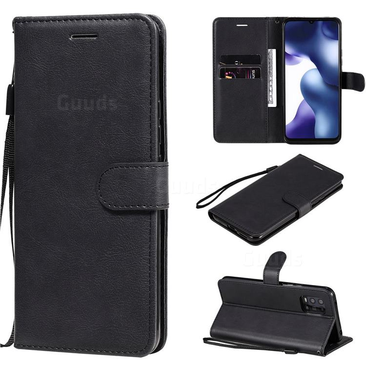 Retro Greek Classic Smooth PU Leather Wallet Phone Case for Xiaomi Mi 10 Lite - Black