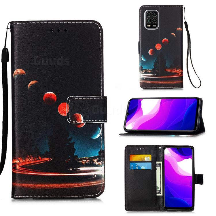Wandering Earth Matte Leather Wallet Phone Case for Xiaomi Mi 10 Lite