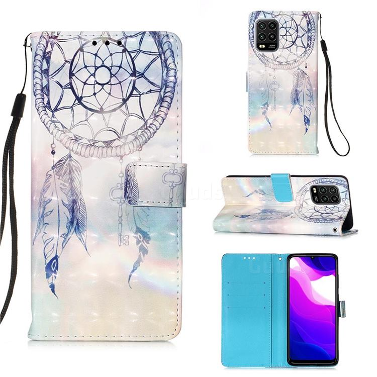 Fantasy Campanula 3D Painted Leather Wallet Case for Xiaomi Mi 10 Lite