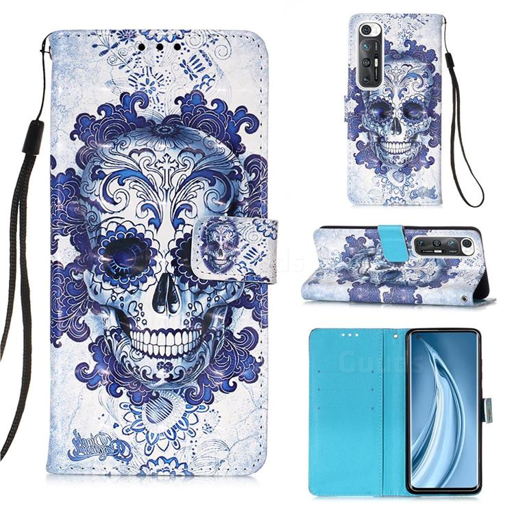 Cloud Kito 3D Painted Leather Wallet Case for Xiaomi Mi 10S