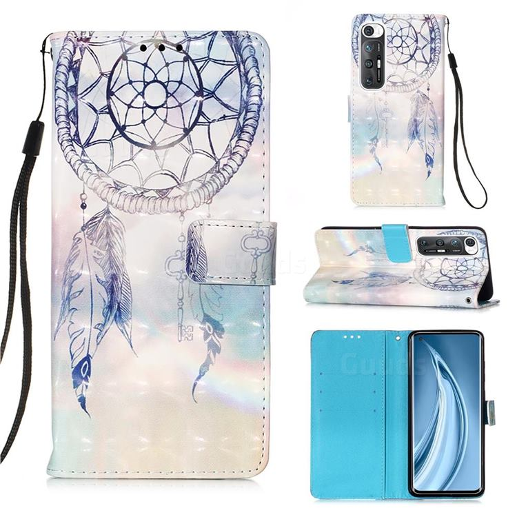 Fantasy Campanula 3D Painted Leather Wallet Case for Xiaomi Mi 10S