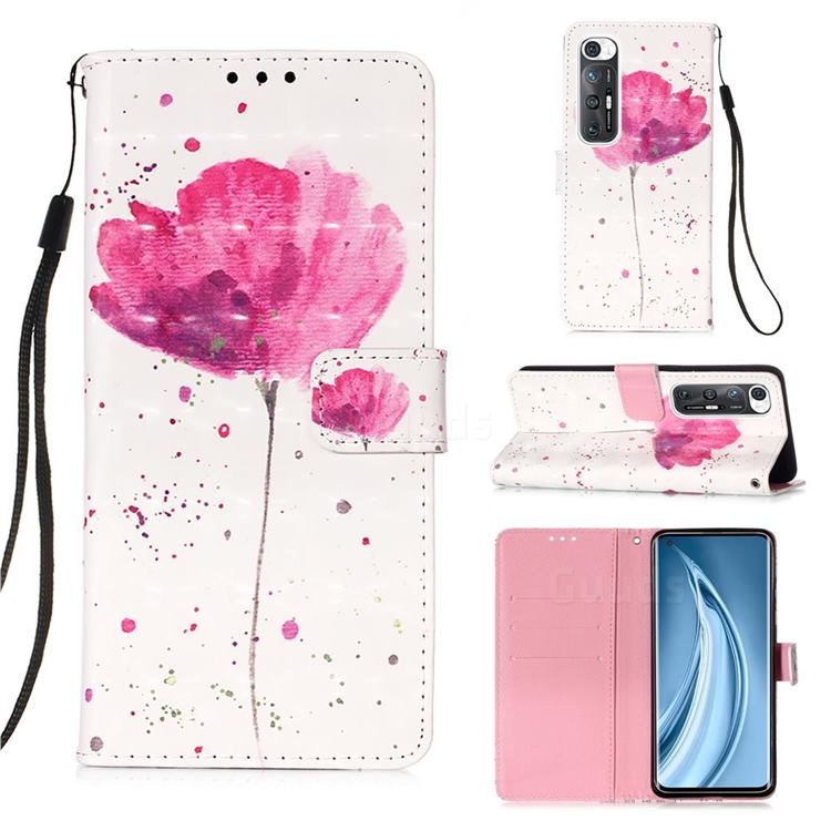 Watercolor 3D Painted Leather Wallet Case for Xiaomi Mi 10S