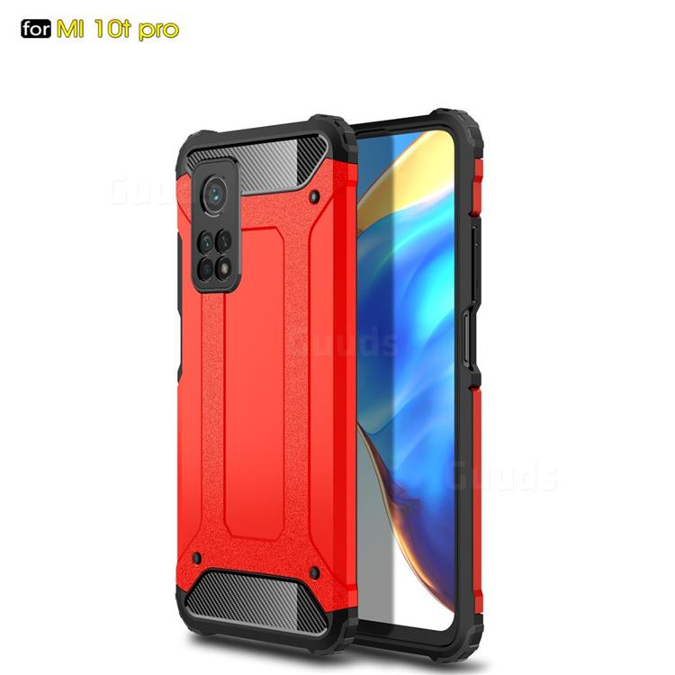 King Kong Armor Premium Shockproof Dual Layer Rugged Hard Cover for Xiaomi Mi 10T / 10T Pro 5G - Big Red