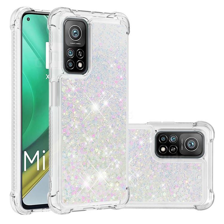 Dynamic Liquid Glitter Sand Quicksand Star TPU Case for Xiaomi Mi 10T / 10T Pro 5G - Pink
